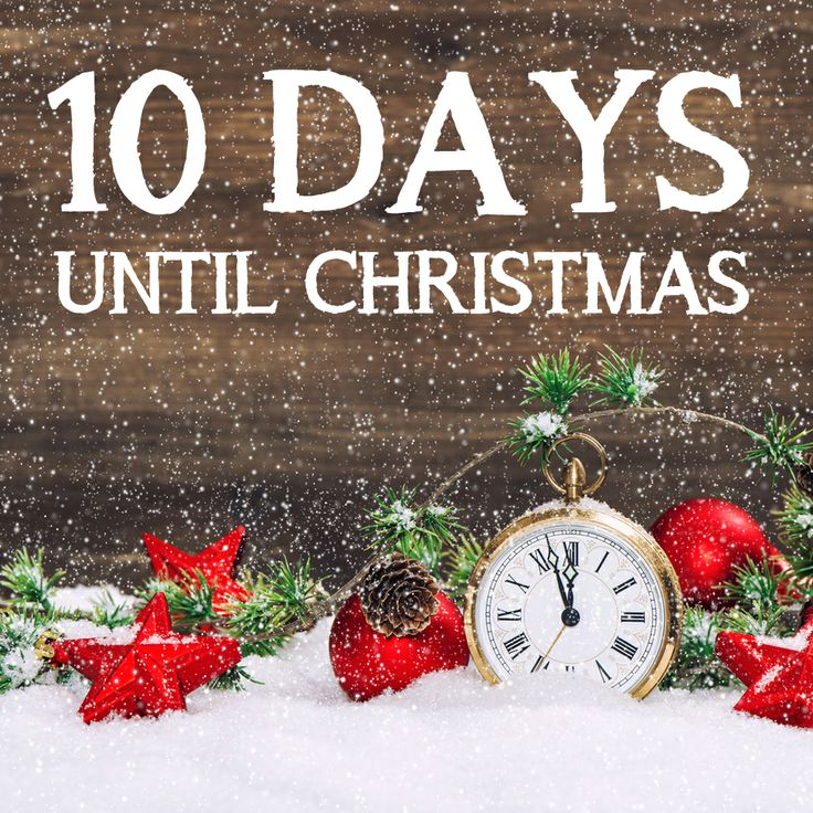 Days Till Christmas Uk.10 Days Until Christmas Silver Treats Personalised Gifts