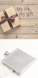 Hippy Thin Square Hip Flask