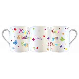White Butterfly and stars Mothers Day Mug