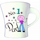 No1 Dad/Grandad Bone China Mug