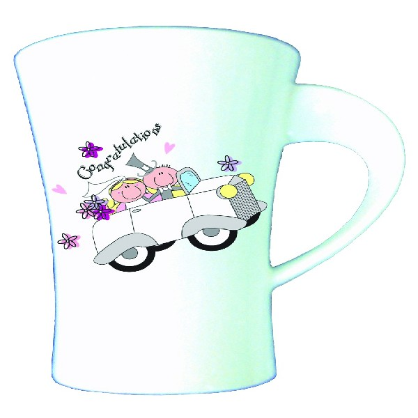 Wedding Car Bone China Latte Mug