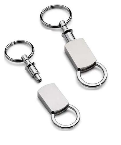DOUBLE ENDED DETACHABLE PADLOCK KEYRING