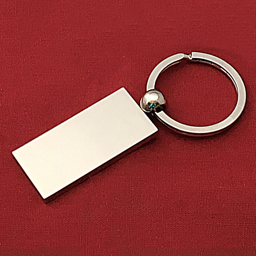 Engravable Silver Plated Keyring with Shiny Finish