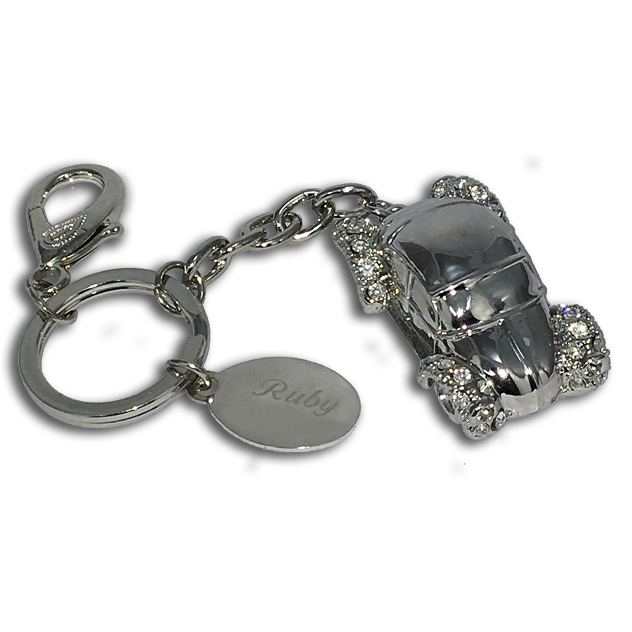 Glitzy Bettle Car Keyring
