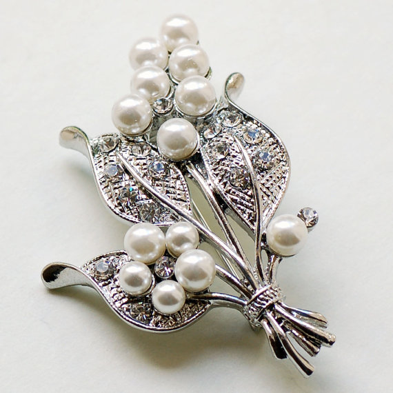 Vintage Style Bouquet Brooch