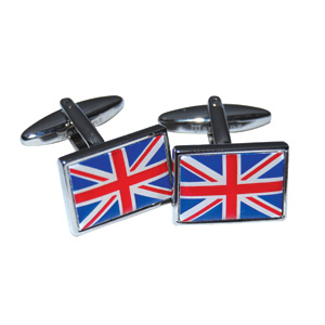 UNION JACK CUFFLINKS IN BLUE BOX