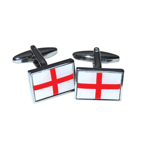 ST GEORGE FLAG CUFFLINKS IN BLUE BOX