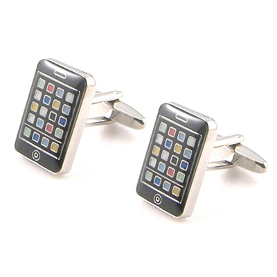 SMART PHONE CUFFLINKS IN BLUE BOX