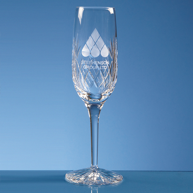 Single Blenheim Lead Crystal Panel Champagne Flute