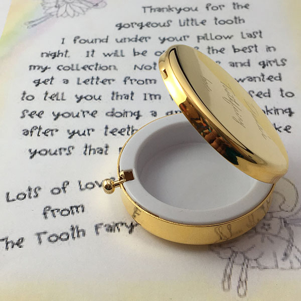 Personalised Children Gold Plated Toothfairy Box