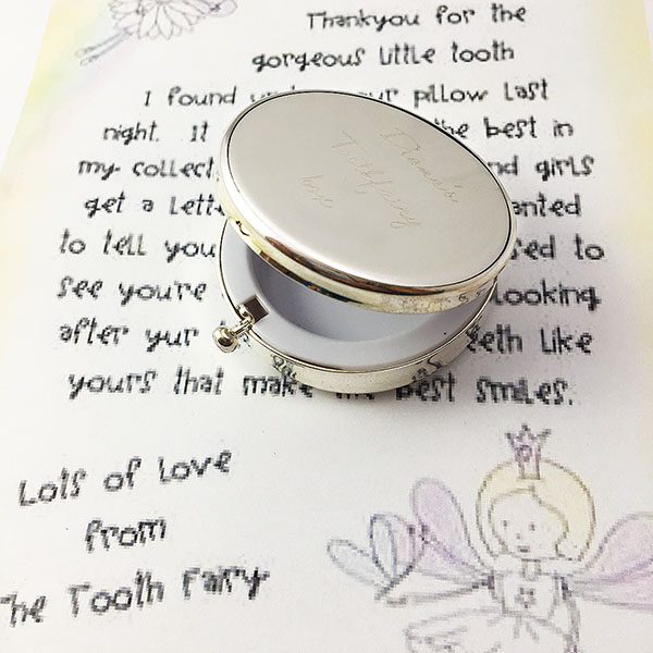 Personalsed Children Toothfairy silver Box