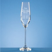PERSONALISED DIAMANTE SINGLE CHAMPAGNE FLUTE W/ SWAROVSKI CRYSTALS IN PRESENTATION BOX