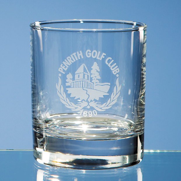 Single Bar Line Old Fashioned Whisky Tumbler