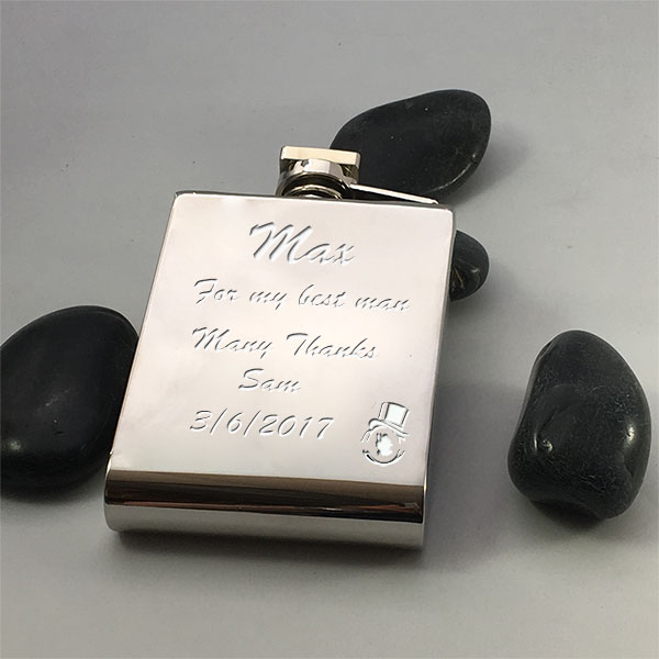 Personalised modern hip flask 5 oz
