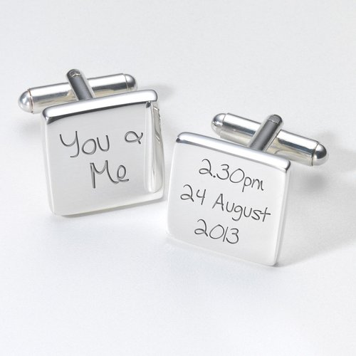You & Me square Cufflinks - Gift for Groom