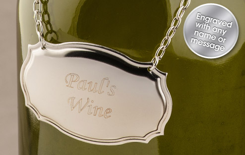 PERSONALISED WINE DECANTER LABEL