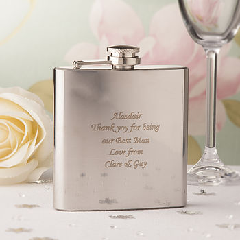 Stainless Steel 6 oz Hip Flask