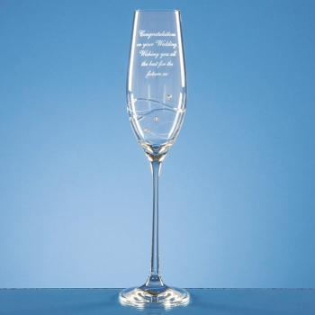 Personalised Engraved Large Diamante Crystal Spiral Gin Glass Best Friend